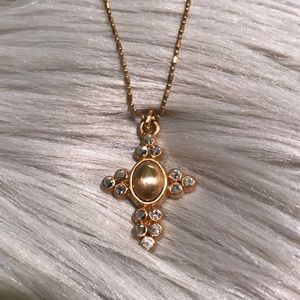 Brighton Goldtone Cross Necklace